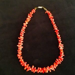 """Red Branch Coral 16"""" Choker Necklace"""